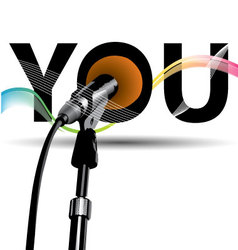 Voice microphones color vector