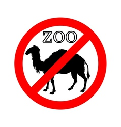 Camel in zoo prohibited vector