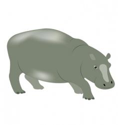 Animal hippopotamus vector