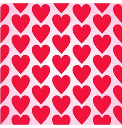 Red hearts seamless background pattern vector