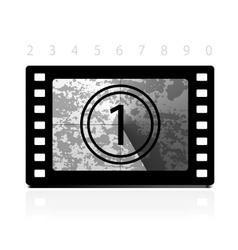 Grunge film countdown vector