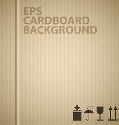 Cardboard background texture vector