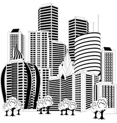 Downtown skyline vector