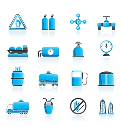Natural gas objects and icons vector