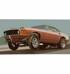 Old drag car vector