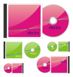 Compact disks with electro layout vector