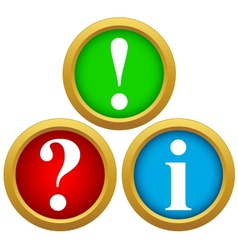 Question and answer icons vector