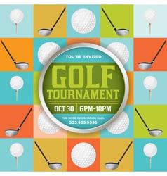 Golf tournament pattern invitation vector