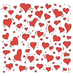 Hand drawn of different lovely hearts vector