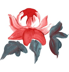 Oil painted flower vector