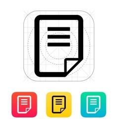 Notepad page flip icon vector