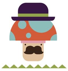 Fantasy mushroom character vector