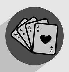 Casino games icon vector