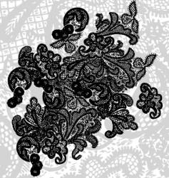 Lace design vector
