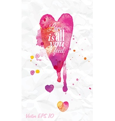 Watercolor love valentines day vector