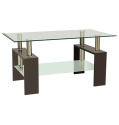 Glass table vector