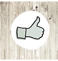 Thumb up vector