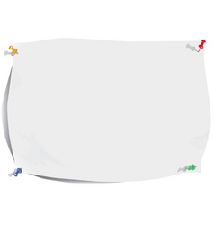 White paper sheet and pins vector