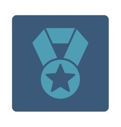 Champion medal icon from award buttons overcolor vector