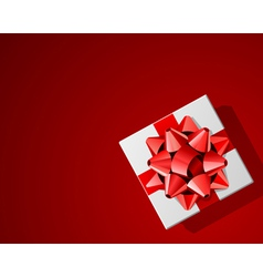 Red present background vector