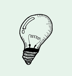 Drawing of light bulb vector