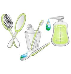 Hygiene items vector
