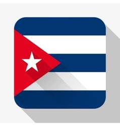 Simple flat icon cuba flag vector