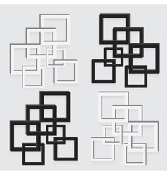 Picture frame black and white abstract decoration vector