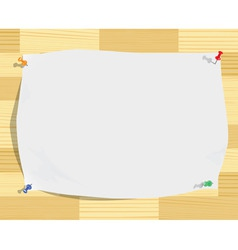 Paper sheet on wood background vector