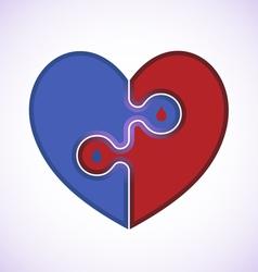 Medical heart icon vector
