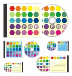 Compact disks with pop layout vector