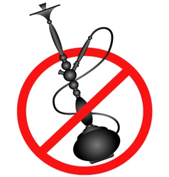 No smoking hookah silhouette vector