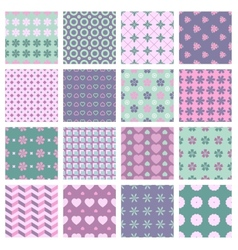 16 seamless spring patterns vector