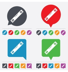 Bubble level sign icon spirit tool symbol vector