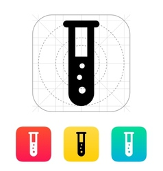 Test tube with bubbles icon vector