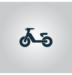 Set of transport icons - scooter and moped vector