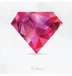 Diamond polygonal geometric symbol vector