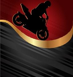 Motorcycle racing background vector