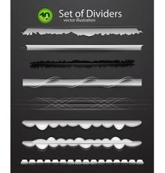 Divider set vector