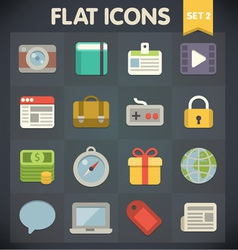Universal flat icons for applications vector