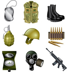 Icons army vector