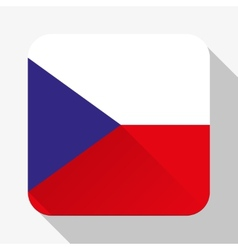 Simple flat icon czech republic flag vector