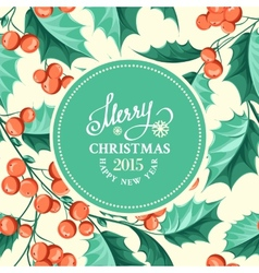 Christmas mistletoe border vector