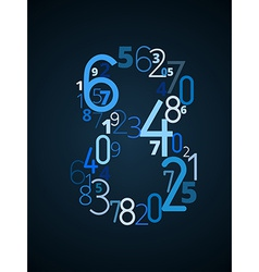 Number 8 font from numbers vector