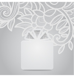 Gift with floral gray vector