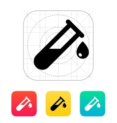 Drop from test tube icon vector
