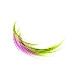 Abstract smoke green purple vector