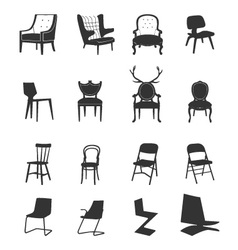 Silhouette-chairs vector
