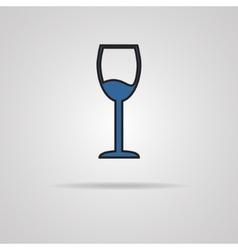 Glass of wine icon vector