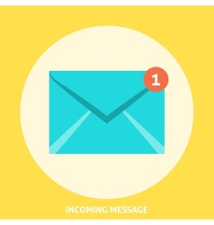 Envelope icon flat vector
